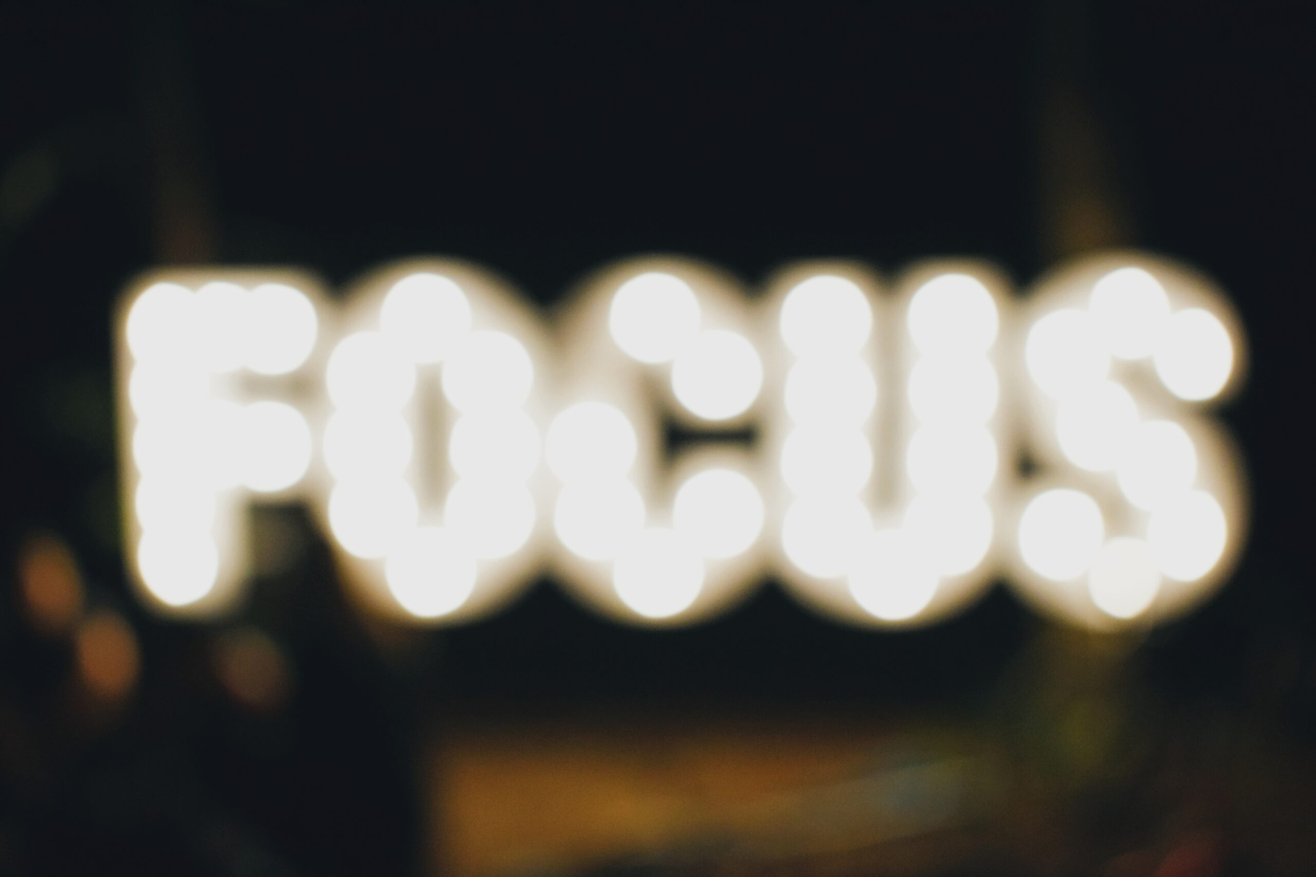 turned on Focus signage