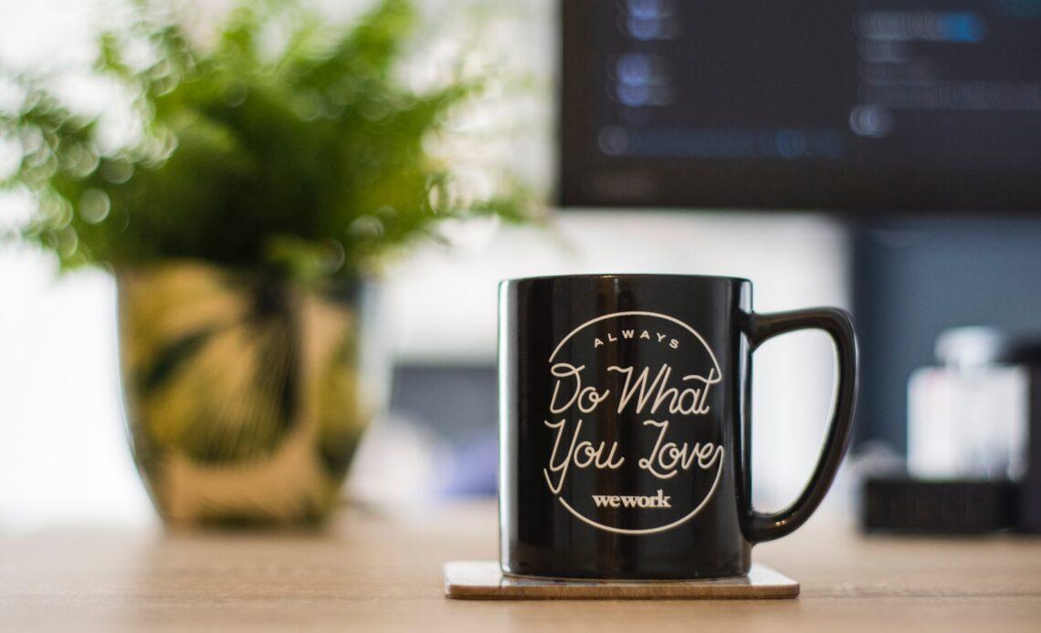 Do What You Love We Work Mug