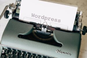 WordPress written on TypeWriter
